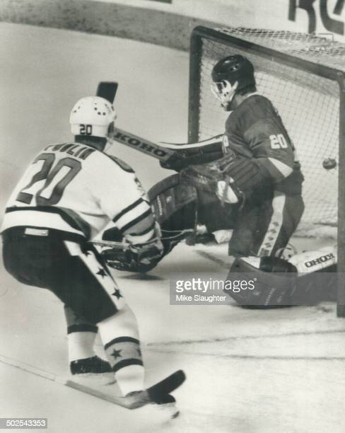 The winner Dave Poulin of the Philadelphia Flyers became an instant hero last night in Quebec city when he scored this goal against the Soviet...