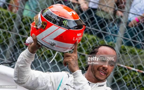 The winner Lewis Hamilton after the race at Formula 1 Grand Prix de Monaco on May 26, 2019 in Monte Carlo, Monaco.