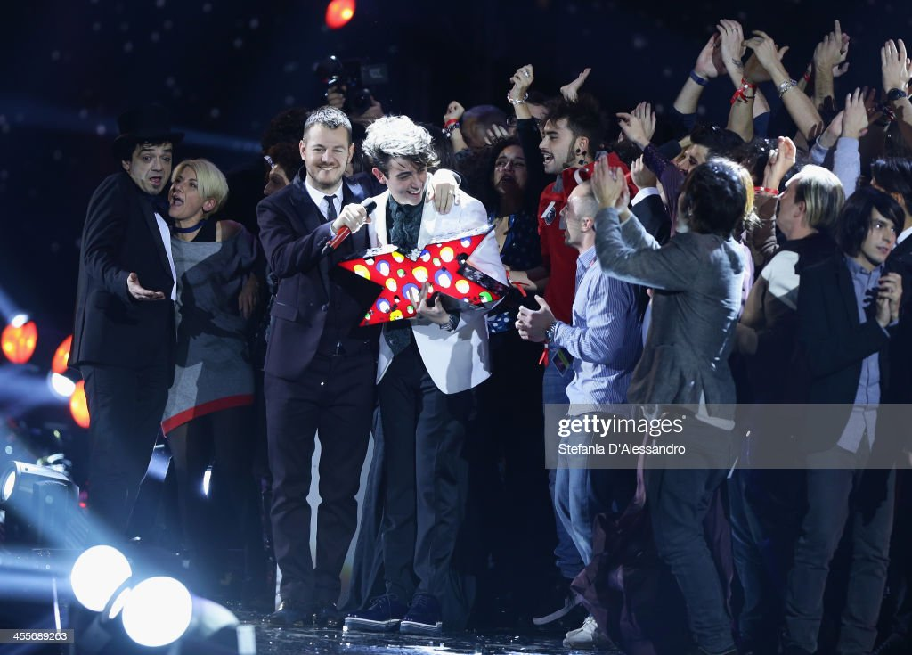 The winner of 2013 X Factor Italia Michele Bravi attend ''X Factor'- The Final on December 12, 2013 in Milan, Italy.