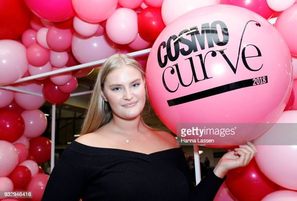 The winner of Cosmo Curve Casting with Robyn Lawley Sarah Bolt poses at Cosmo Curve on March 17 2018 in Sydney Australia