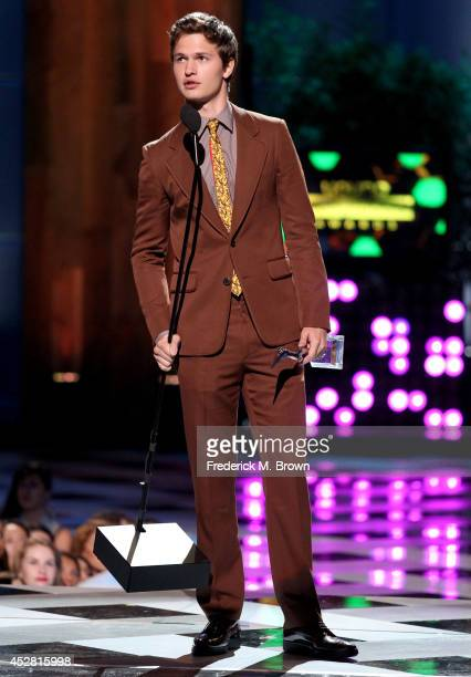 The winner of Fan Favorite Male Award Actor Ansel Elgort onstage at the 2014 Young Hollywood Awards brought to you by Samsung Galaxy at The Wiltern...