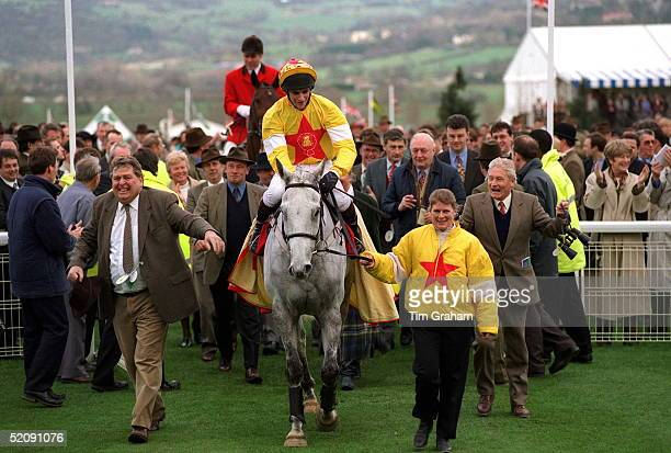 The Winner Of The Queen Mother's Champion Chase one Man And His Jockey Brian Harding At Cheltenham Races