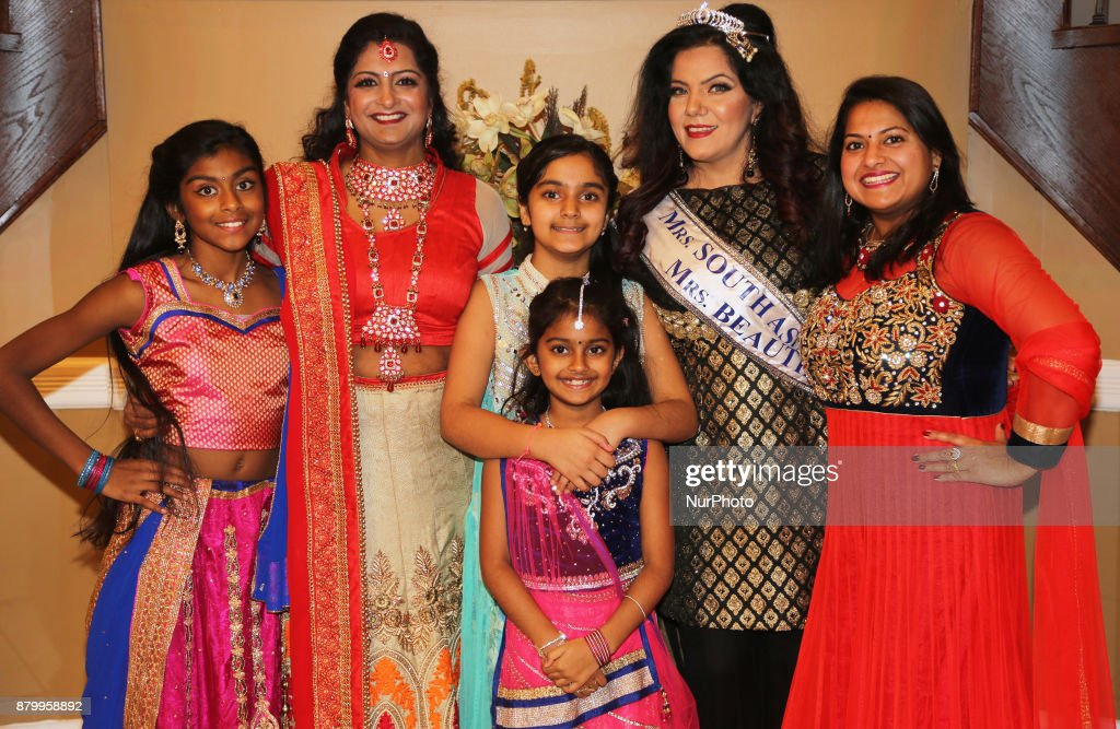 The winner of the title `Mrs Beautiful Eyes` and `Mrs South Asia Canada 2017` attends the Diwali Gala Celebration held in Mississauga Ontario Canada..