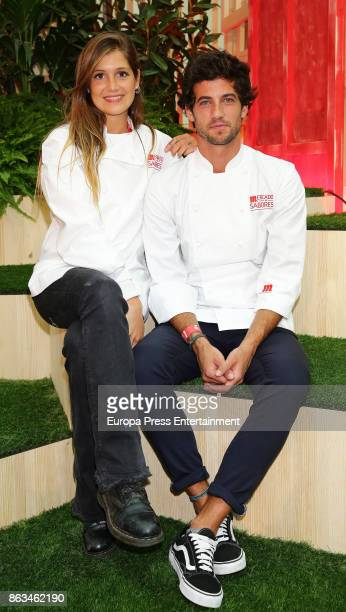The winner of TV MasterChef Jorge Brazalez and finalist Miri de Perez attend the opening of IV Sabores Market on October 19 2017 in Madrid Spain