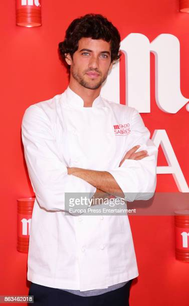 The winner of TV MasterChef Jorge Brazalez attends the opening of IV Sabores Market on October 19 2017 in Madrid Spain