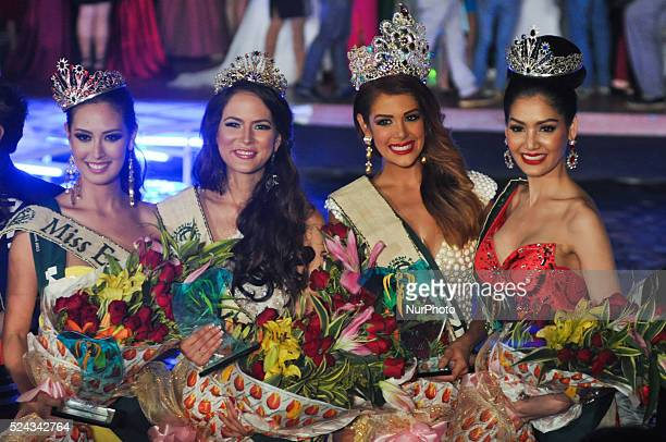 The winners of Miss Earth 2013 Pageant Miss Fire Catharina Choi of Korea Miss Air Katia Wagner of Austria Miss Earth Alyz Henrich of Venezuela Miss...