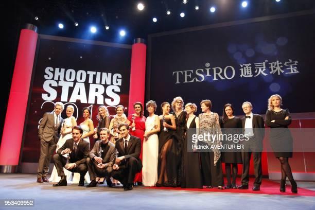 The winners of 'Shooting Stars' award Arta Dobroshi Christa Theret Nermina Lukac Saskia Rosendahl Laura Birn Luca Marinelli Jure Henigman Carla Juri...
