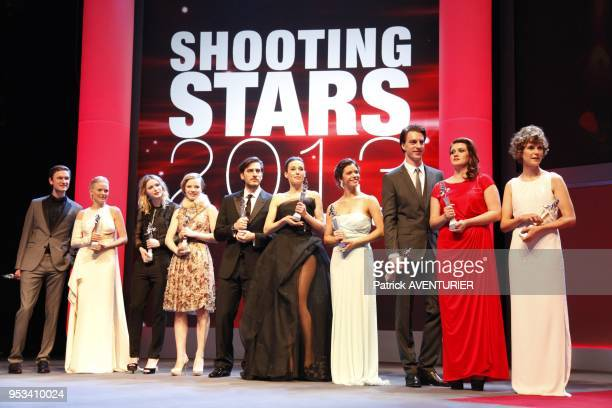 The winners of 'Shooting Stars' award Laura Birn Christa Theret and Ada CondeescuA jury select the most notable upandcoming actors from europe during...