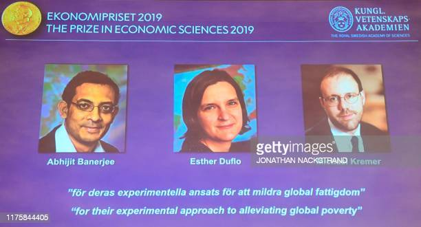 The winners of the 2019 Sveriges Riksbank Prize in Economic Sciences in Memory of Alfred Nobel Abhijit Banerjee Esther Duflo and Michael Kremer are...