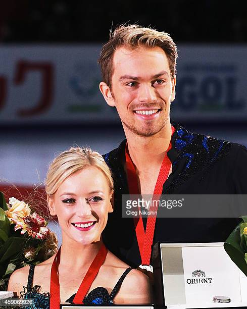 The winners of the Dance competition Bronze metalist from Great Britain Penny Coomes and Nicholas Buckland during day 3 of the ISU Rostelecom Cup of...