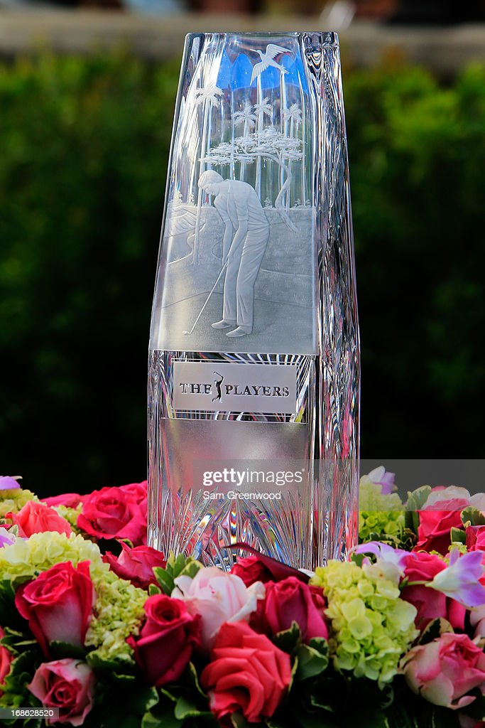 The winner's trophy is displayed during the final round of THE PLAYERS Championship at THE PLAYERS Stadium course at TPC Sawgrass on May 12, 2013 in Ponte Vedra Beach, Florida.