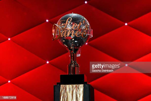 The winners trophy is seen prior to the 7th Show of 'Let's Dance' at Coloneum on May 17 2013 in Cologne Germany