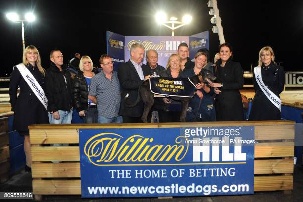 The winning connections of Pond Shefelia after its victory in the Williamhillcom Angel of the North Cup Final during the WilliamHillcom All England...