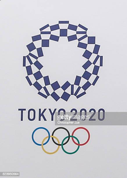 The winning emblem design for Tokyo 2020 is unveiled on April 25 2016 in Tokyo Japan Tokyo 2020 Organising Committee announced today the new designs...