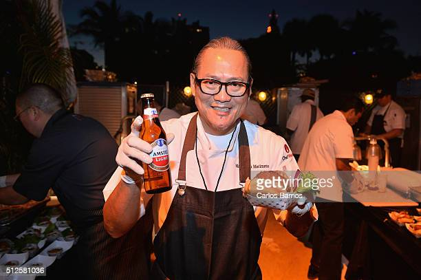"The winning ""Menchi Katsu Burger"" from Iron Chef Masaharu Morimoto chosen by attendees with Amstel® Light The Official Beer of the Burger™ at the..."