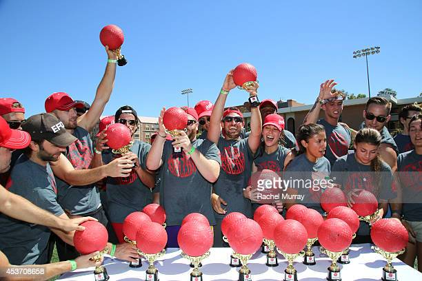 The winning team at Kickball For A Home Celebrity Challenge Presented By Dave Thomas Foundation For Adoption at the University of Southern California...