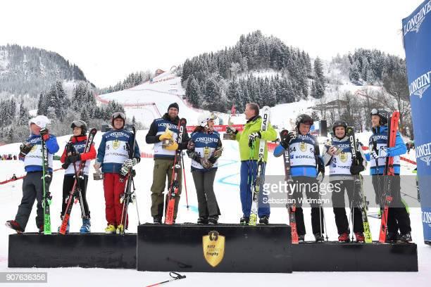 The winning teams Gerhard Friedle Helene Berger Roland Berger Marco Buechel Fabiana Ecclestone Franz Klammer Philippe Roodhooft Markku Korvenranta...
