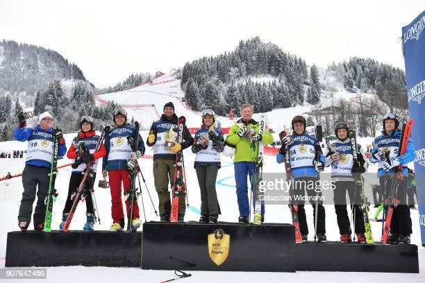 The winning teams Gerhard Friedle, Helene Berger, Roland Berger, Marco Buechel, Fabiana Ecclestone, Franz Klammer, Philippe Roodhooft, Markku...