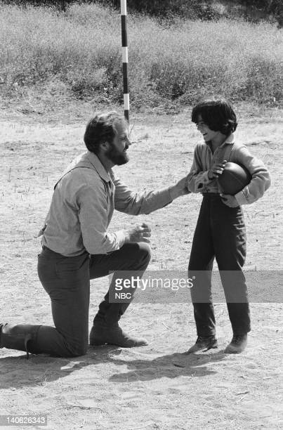 "The Winoka Warriors"" Episode 3 -- Aired 9/25/78 -- Pictured: Merlin Olsen as Jonathan Garvey, Matthew Laborteaux as Albert Quinn Ingalls -- Photo by:..."