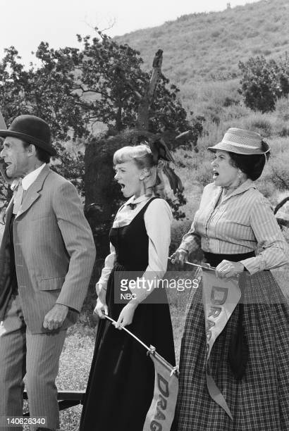 PRAIRIE The Winoka Warriors Episode 3 Aired 9/25/78 Pictured Richard Bull as Nels Oleson Alison Arngrim as Nellie Oleson Katherine MacGregor as...