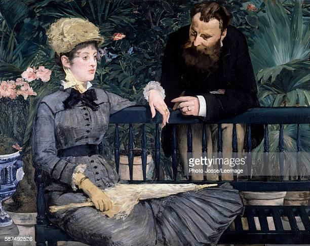 The winter garden in the greenhouse Painting by Edouard Manet in 1879 115 x 150 cm Staatliche Museum Berlin Germany