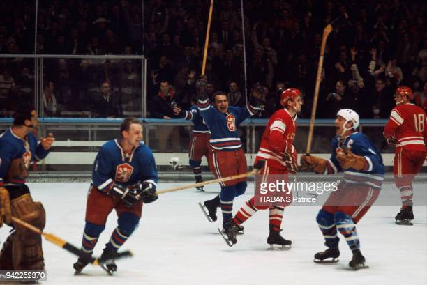 the winter Olympics games in Grenoble 1968 Ice Hockey The USSR Czechoslovakia match at the ice rink of Grenoble on February 15 1968