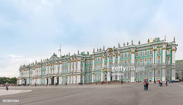 the winter palace from palace square, saint petersburg, russia - winter palace st. petersburg stock photos and pictures