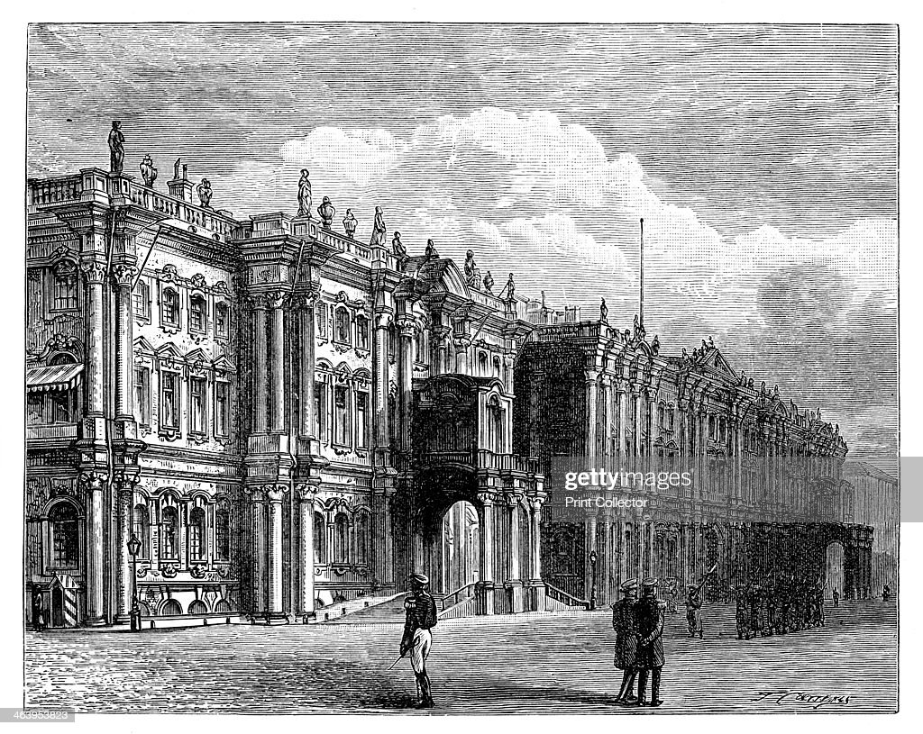The Winter Palace, St Petersburg, Russia, c1888. : News Photo