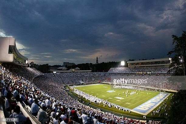 The Wisconsin Badgers play the North Carolina Tar Heels on September 17 2005 at Kenan Stadium in Chapel Hill North Carolina