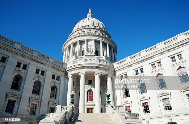 The Wisconsin State Capitol building on December 24 2011 in Madison Wisconsin AFP PHOTO/Karen BLEIER
