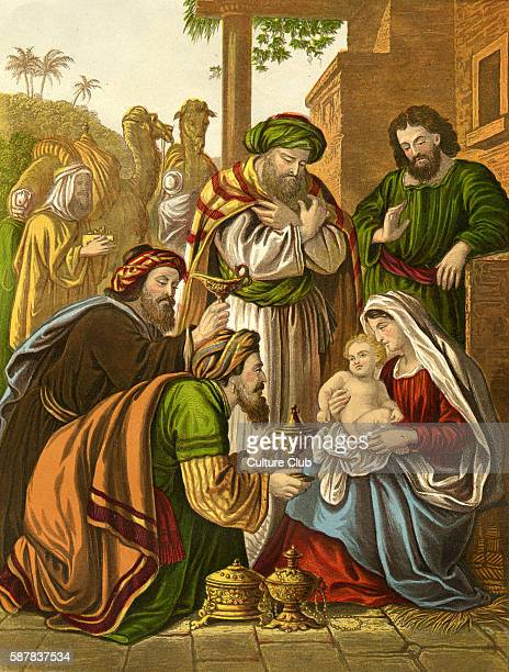 The Wise Men visit the baby Jesus And they came into the house and saw the young child with Mary his mother and they fell down and worshipped him and...