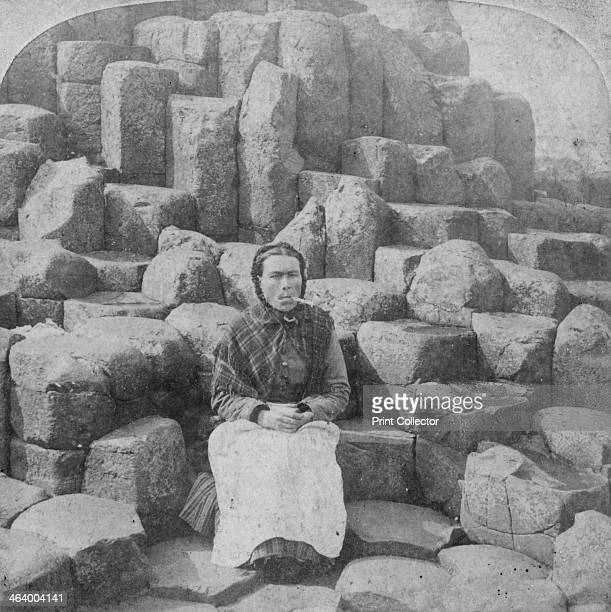 The Wishing Chair, Giant's Causeway, County Antrim, Ireland, 1887. Legend has it that the Irish giant, Finn McCool, built the Giant's Causeway in...