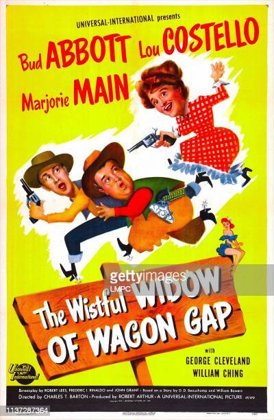 The Wistful Widow Of Wagon Gap poster US poster from left Bud Abbott Lou Costello Marjorie Main 1947