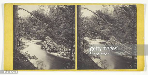 The Witches' Rock, on the Tilt, Mid 19th century. [Rock formation on the River Tilt in Scotland]. Albumen print, stereocard. Artist George Washington...
