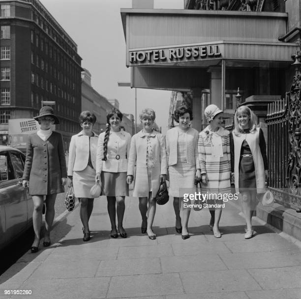 The wives of Manchester United FC players in London for the European Cup final against SL Benfica UK 29th May 1968