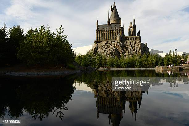 The Wizarding World of Harry Potter themed area stands at Universal Studios Japan operated by USJ Co in Osaka Japan on Thursday Aug 7 2014 USJ is...