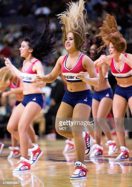 The Wizard's Girls perform during the first half of their game against the Utah Jazz played at the Verizon Center in Washington Wednesday Mar 5 2014