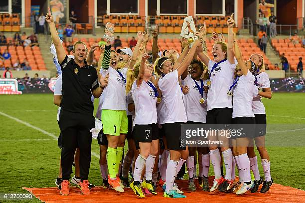 The WNY Flash celebrate winning the 2016 NWSL Championship soccer match between WNY Flash and Washington Spirit at BBVA Compass Stadium in Houston...