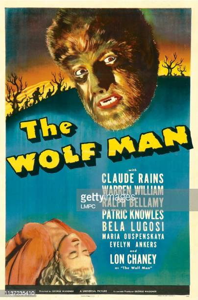 The Wolf Man poster Evelyn Ankers Lon Chaney Jr 1941