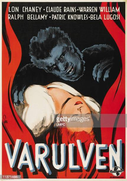 The Wolf Man poster Lon Chaney Jr Evelyn Ankers 1941