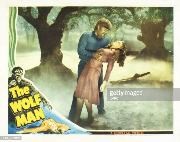 The Wolf Man US lobbycard from left Lon Chaney Jr Evelyn Ankers 1941
