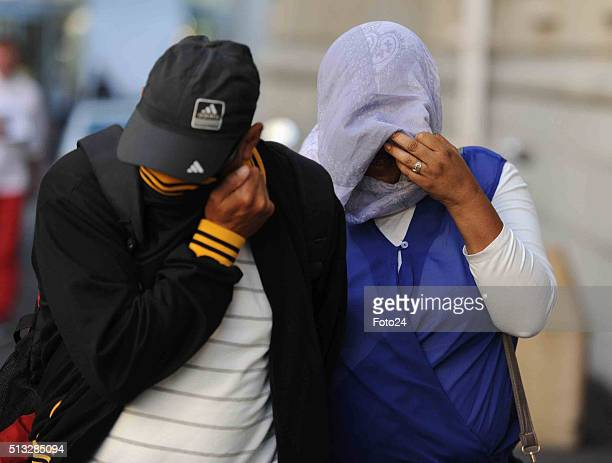 The woman accused of kidnapping Zephany Nurse arrives at the Cape Town High Court on February 29 2016 in Cape Town South Africa The trial of the...