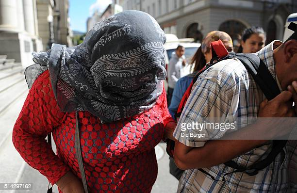 The woman accused of kidnapping Zephany Nurse arrives at the Cape Town High Court on March 07 2016 in Cape Town South Africa The trial of the woman...