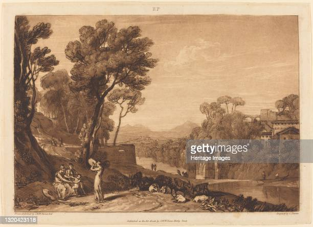 The Woman and Tambourine, published 1807. Artist JMW Turner.