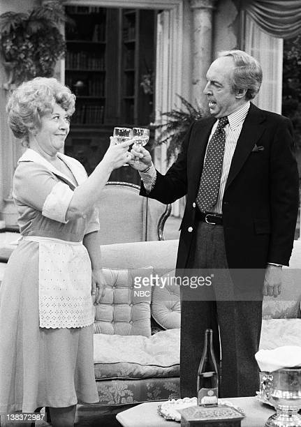 RENT STROKES 'The Woman' Episode 12 Pictured Charlotte Rae as Edna Garrett Conrad Bain as Philip Drummond