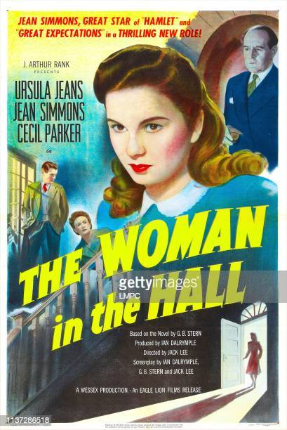 The Woman In The Hall poster British poster from left Nigel Buchanan Ursula Jeans Jean Simmons Cecil Parker 1947