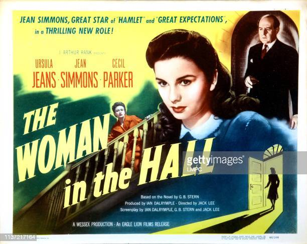 The Woman In The Hall US lobbycard from left Ursula Jeans Jean Simmons Cecil Parker 1947