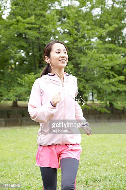 The woman who is running