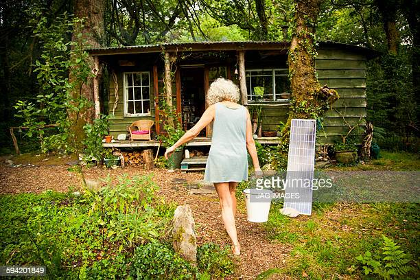 The woman who lives in a log cabin