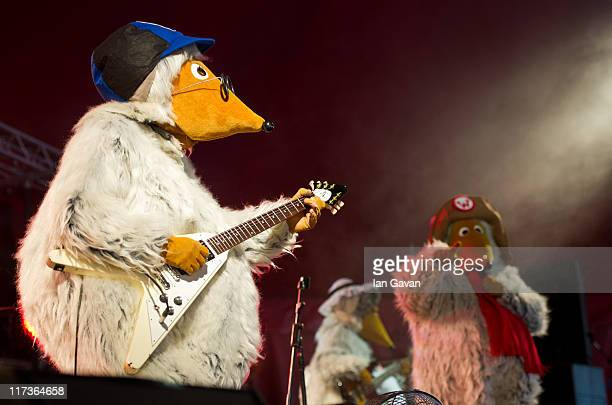 The Wombles perform live on the Avalon stage during the Glastonbury Festival at Worthy Farm Pilton on June 26 2011 in Glastonbury England The...